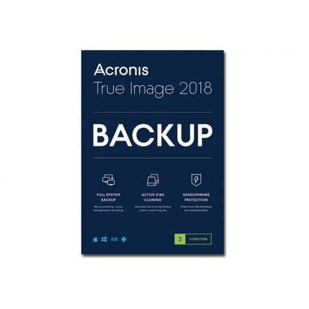Acronis True Image Premium 1an 3 pcs 2018