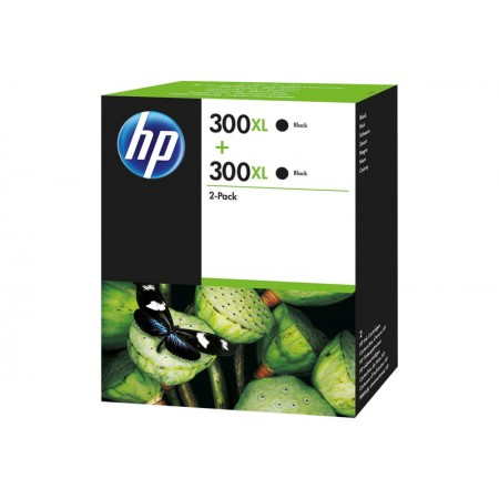 HP 300XL 2 PACK Noir
