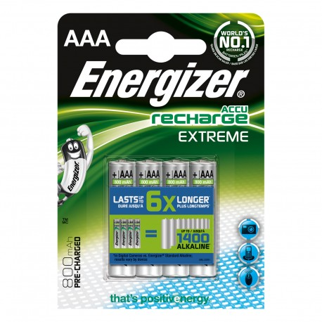 Pack 4 Piles AAA 1.5V Rechargeable