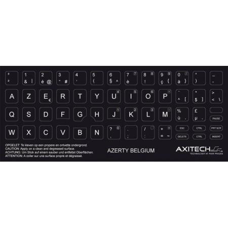 Stickers pour Clavier azerty belge